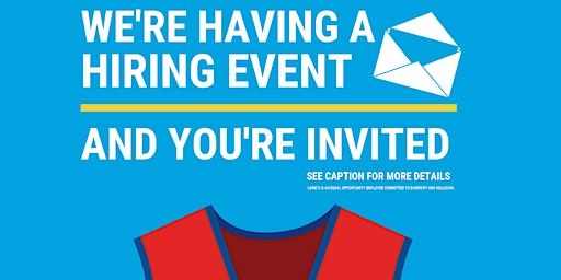 Lowe's Spring Hiring Event – Manitowoc, WI