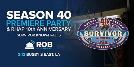 RHAP 10th Anniversary & S40 Premiere Party tickets