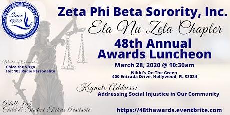 Eta Nu Zeta Chapter of Zeta Phi Beta Sorority, Inc. Scholarship Luncheon tickets
