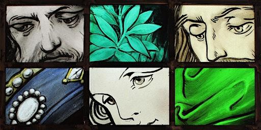 Munich Style Glass Painting