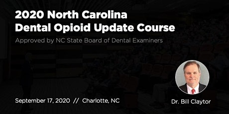 9/17/20 NC Dental Opioid Update Course tickets