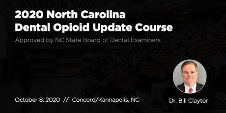 10/8/20 NC Dental Opioid Update Course tickets