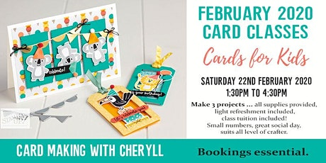 Creating Cards with Cheryll tickets
