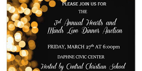 3rd Annual Hearts and Minds Live Dinner Auction tickets