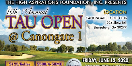 High Aspirations Foundation 16th Annual Tau Open tickets