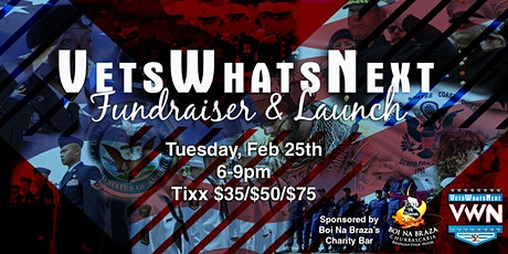 VetsWhatsNext Charity Bar Fundraiser & Launch Event tickets