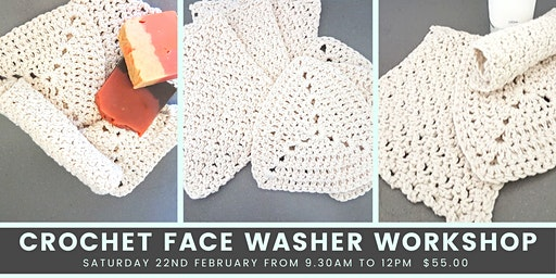 Face Washer Crochet  Workshop for Beginners