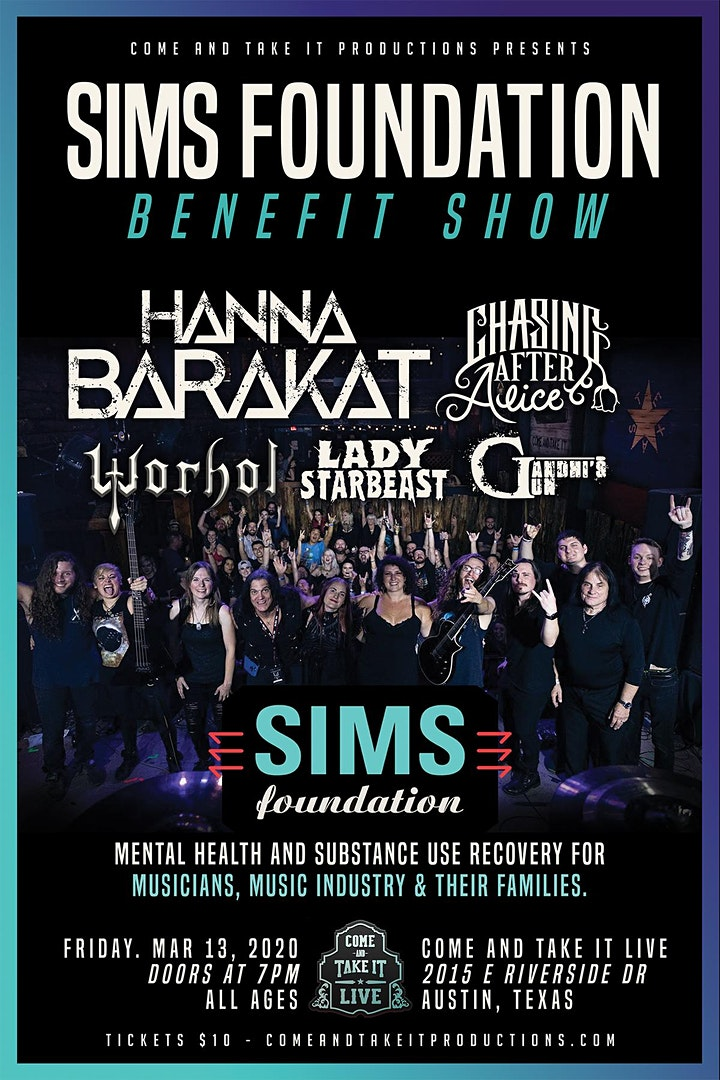 The SIMS Foundation Benefit Show image