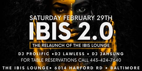 IBIS 2.0 - The Relaunch of the Ibis lounge tickets