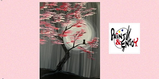 """Paint and Enjoy at the Rustic Cup, East Prospect  """" Spring night """""""