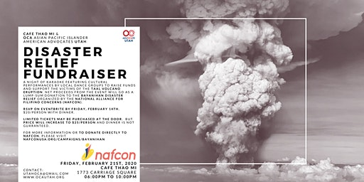 Disaster Relief Fundraiser by OCA UTAH & Café Thảo Mi