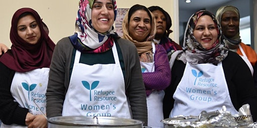 Dinner prepared by Refugee Resource Women's Project