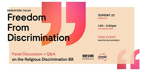 Freedom From Discrimination tickets