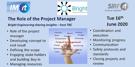 VICTAS Role of the Project Manager - Bright Engineering presenting tickets