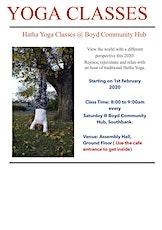 Saturday Yoga Classes at Boyd Community Hub, Southbank 3006 tickets