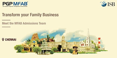 ISB (PGPMFAB)Family Business Coffee Meet at |Chennai