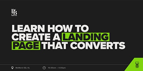 Learn How To Create A Landing Page That Converts tickets