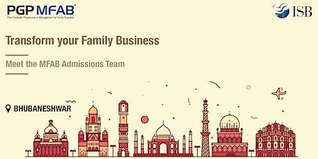 ISB (PGPMFAB)Family Business Coffee Meet at  Bhubaneshwar tickets