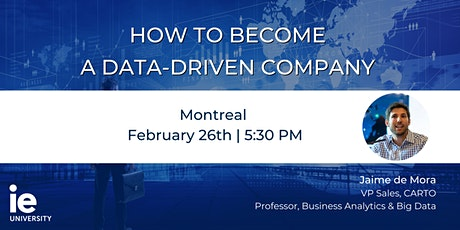 How to Become a Data-Driven Company  - Montreal billets
