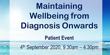 Maintaining Wellbeing from Diagnosis Onwards tickets