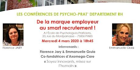 Conf RH Psychoprat : De la marque employeur au smart recrutement ! tickets