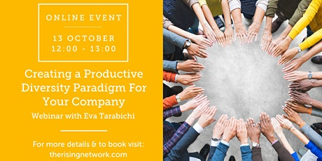 ONLINE EVENT: Creating a Productive Diversity Paradigm For Your Company bilhetes