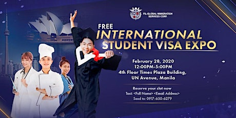 FREE INTERNATIONAL STUDENT VISA EXPO tickets