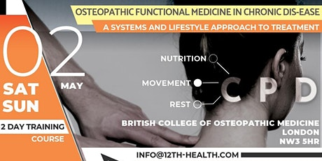Osteopathic functional medicine in chronic dis-ease tickets