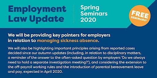 Employment Law Update - Spring 2020 Colwyn Bay