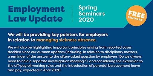 Employment Law Update - Spring 2020 Shrewsbury