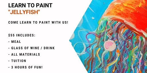 Jets Ipswich - Grab a glass of wine and learn to paint 'Jellyfish'!