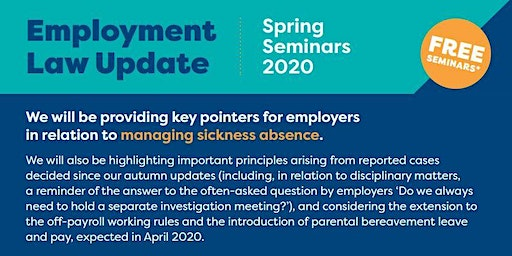 Employment Law Update - Spring 2020 Oswestry