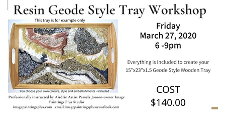 """Resin Geode Style Serving Tray 15""""x23"""" tickets"""