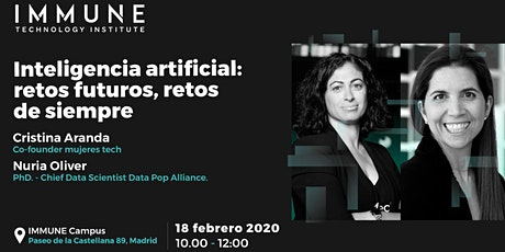 """Inteligencia artificial: retos futuros, retos de siempre""-IMMUNE Dialogues entradas"