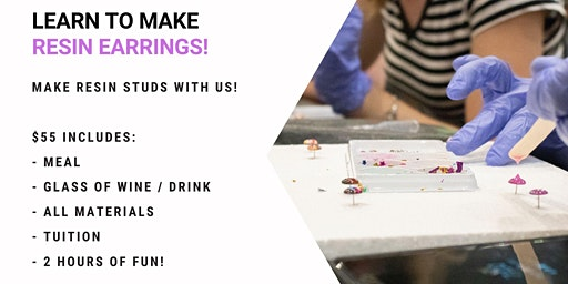 Jets Ipswich - Grab a glass of wine and learn to make resin earrings!
