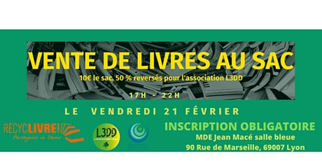 Lyon : Remplis ton Sac de Livres pour 10 euros tickets