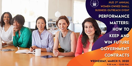 HUD's 3rd Annual Women-Owned Small Business Outreach Event (March 11, 2020) tickets