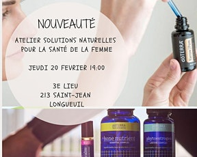 Atelier solutions naturelles pour la santé de la femme billets