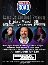 Russo on the Road - Comedy Show/ Dinner/ Live Band tickets