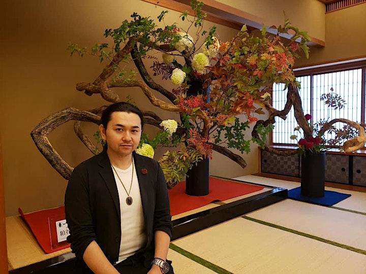 The Art of Ikebana in a demonstration by Naohiro Kasuya, Iemoto image