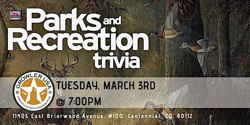Parks & Rec Trivia at Growler USA Centennial