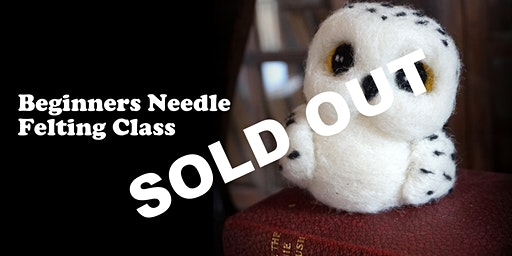 Beginners Needle Felted Snow Owl Class