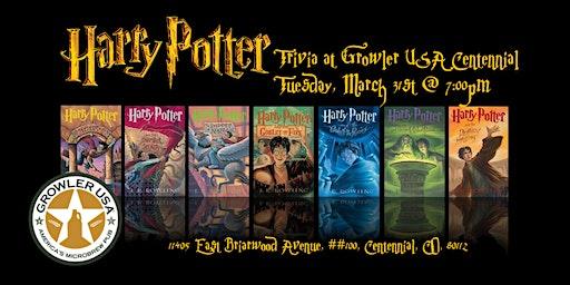 Harry Potter Books Trivia at Growler USA Centennial