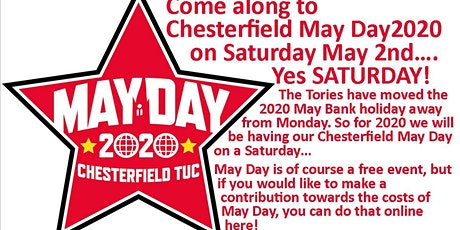 Chesterfield May Day March and Rally 2020 tickets