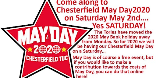 Chesterfield May Day March and Rally 2020