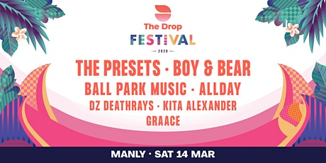 The Drop Festival 2020  Manly tickets
