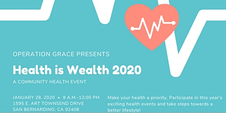 Health Is Wealth - February 2020 tickets