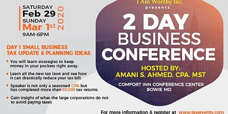Top 2020 2 Day Business Conference for Small Businesses tickets
