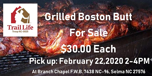 Trail Life NC-0025 Boston Butt Fundraiser