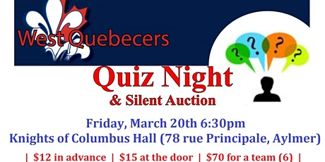 Quiz Night 2020 tickets